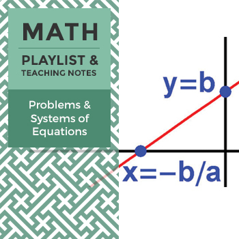 Problems & Systems of Equations - Playlist and Teaching Notes