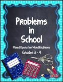 Problems in School - Mixed Operation Word Problems