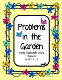 Problems in the Garden - Mixed Operation Word Problems Gra