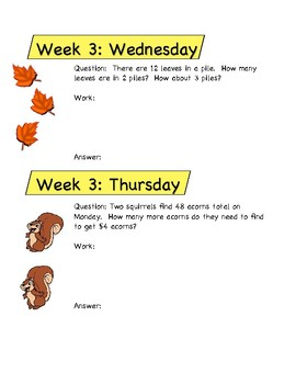 Problems of the Day October