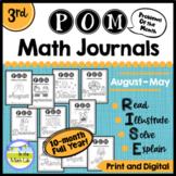 3rd Grade Math Word Problems Journals BUNDLE 10 Months Google Slides™ Included