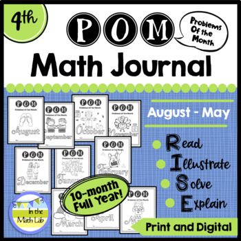 Problems of the Month (POM) Math Packs BUNDLE - 4th Grade