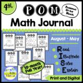 4th Grade Math Word Problems Journals BUNDLE 10 Months Google Slides™ Included