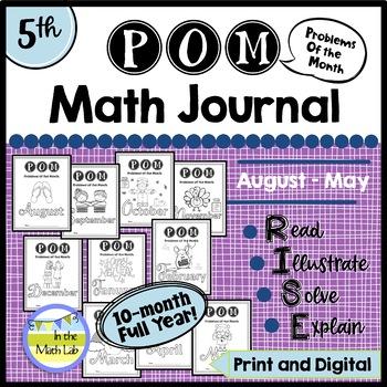 Math Problem-Solving - 5th Grade POM Packs BUNDLE