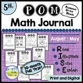 5th Grade Math Word Problems Journals BUNDLE 10 Months Google Slides™ Included