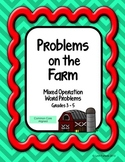 Problems on the Farm Math Word Problems - Mixed Operations