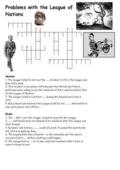 Problems with the League of Nations Crossword