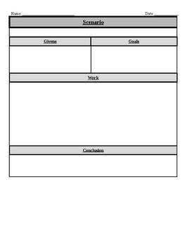 Problemsolving Graphic Organizers