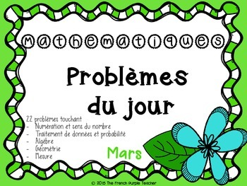 Le problème du jour en mathématique : mars