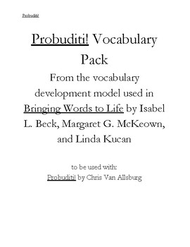 Probuditi Tier 1 and Tier 2 Academic Vocabulary