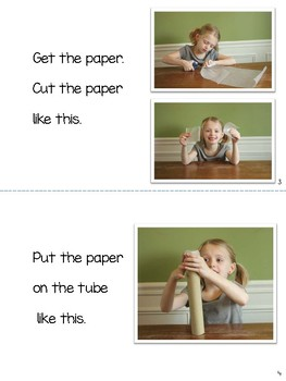 Procedural Book for Guided Reading: Make a Rainstick