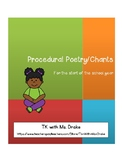 Procedural Chants and Poetry