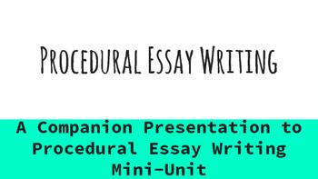 Procedural Essay Writing Presentation