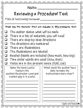 "Procedural Writing - Writer's Workshop ""How-to"" Unit"