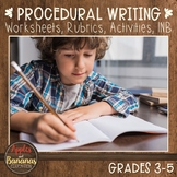 """Procedural Writing - Writer's Workshop """"How-to"""" Unit"""