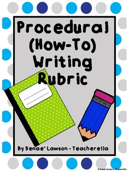 Procedural (How-To) Writing Rubric