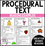 Procedural Text Examples - Ten Reading Samples