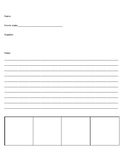 Procedural Text Graphic Organizer with space for pictures