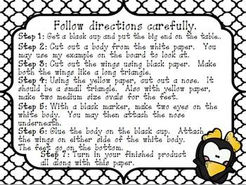Procedural Text-Hands on Activity-How to Make a Penguin