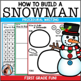 How To Build a Snowman {with Craftivity} ~ Procedural Text