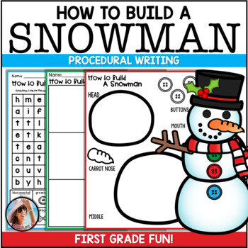 Procedural Text ~ How To Make a Snowman {with Craftivity}