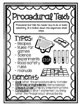 Procedural Text Journal Insert