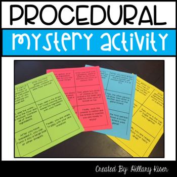 Procedural Text Mystery
