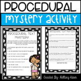 Procedural Text Mystery