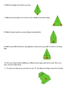 Procedural Text - Origami Activity and Game