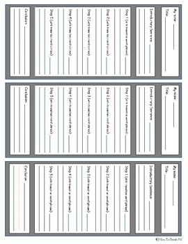 Procedural Text Topic Cards