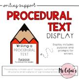 Procedural Text Type Display