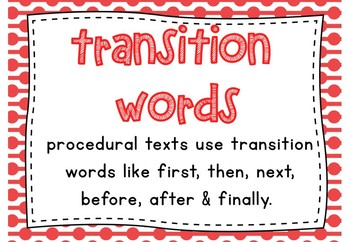 Procedural Text Type - Middle Primary | Posters