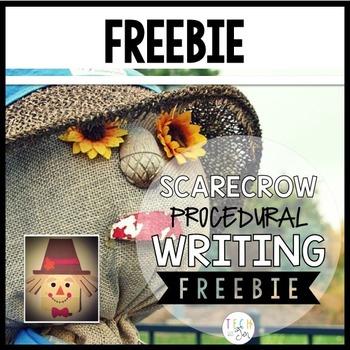 Procedural Text & Writing Freebie: Scarecrow Freebie