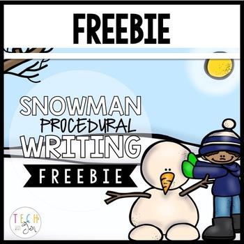 Procedural Text & Writing Freebie: Snowman Freebie