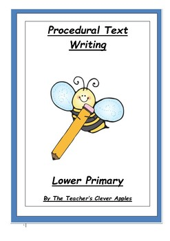 Procedural Text Writing  Lower Primary