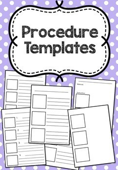 Procedural Text Writing Templates