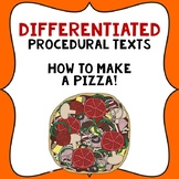 Procedural Text Writing Templates: How to make a Pizza.