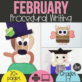 Procedural Text & Writing Unit: February Craftivities