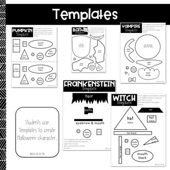 Halloween Craftivities: Procedural Text & Writing Unit