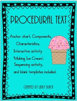 Procedural Text and Sequencing (Ice Cream!)