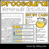 Procedural Text and Sequence (Lemonade Themed)