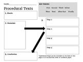 Procedural Texts Graphic Organizer