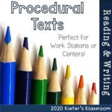 Procedural Texts (How To)