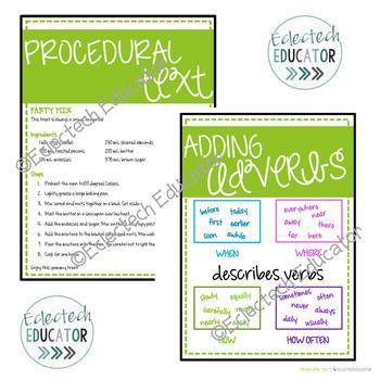 Reader's Workshop - Procedural Texts