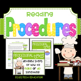 Procedures or How-To Texts   |  Reading Lessons and Activities