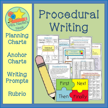 "Procedural Writing - ""How to"" Graphic Organizers, Charts and Writing Prompts"