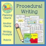 """Procedural Writing - """"How to"""" Graphic Organizers, Charts a"""