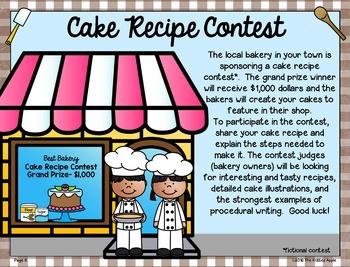 Procedural Writing {Cake Recipe Contest}