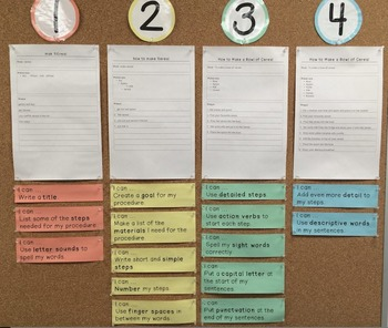 Procedural Writing Bump It Up Wall
