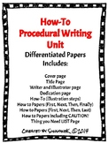 How-To Procedural Writing Paper PACK